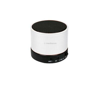 Cassa Portatile Ricaricabile Speaker Bluetooth Wireless Mediacom Sound Bianco