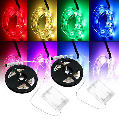 1/2M LED RGB Strip Lights 5V Multi-color Strip Waterproof Lamps With Battery Box