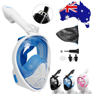 2018 Version Curved Surface Full Face Diving Snorkel Mask Swim Scuba For Gopro