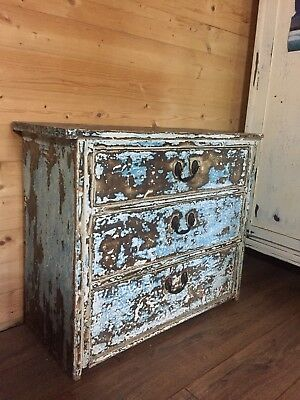 Antique Chest Of Drawers Very Old Shabby Chic