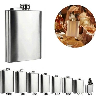Portable Stainless Steel Wine Whisky Pot Bottle Hip Flask Flagon Barware Flasks