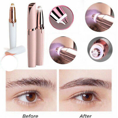 1x Electric Lipstick Hair Remover Women Protable Facial Eyebrow Shaver Painless