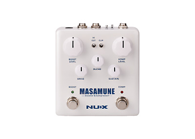 NUX Masamune Booster and Compressor 2-in-1 Guitar Multi-Effects Pedal