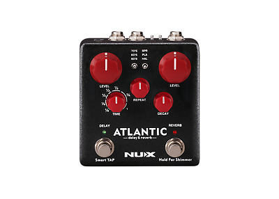 NUX Atlantic Multi Delay and Reverb Effect Pedal with Inside Routing & Secondary