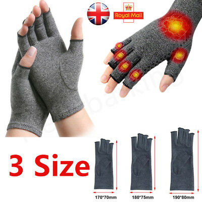 Anti Arthritis Fingerless gloves Support Hands compression therapy circulation