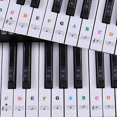 Transparent 54 Music Keyboard Key Note Labels 54 61 88 Keys Piano Stickers UK