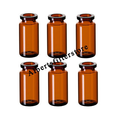100pcs/pk High Quality 10ml Amber vial, 20mm Crimp top,Bevelled,for Lab Analysis