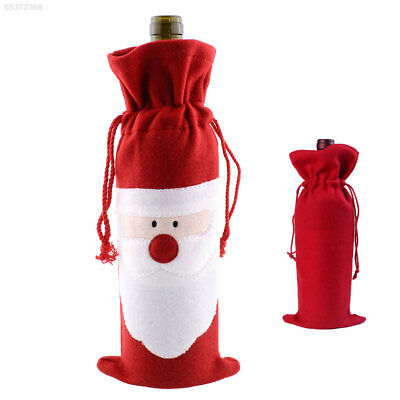 4F06 Party Christmas Decoration Santa Wine Bottle Cover Beer Xmas Bags Ornament