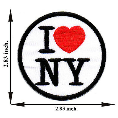 I Love NY New York USA United States Travel Nation Applique Iron on Patch Sew
