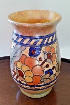 "Art Deco Crown Ducal Charlotte Rhead ""Byzantine"" Vase c1933  Pattern 2681 17.5cm"