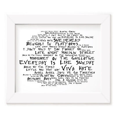 Morrissey Poster Print - Viva Hate - Lyrics Gift Signed Art