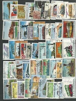 Railway Themed Stamps Off Paper X 50  -  Good Mix   -  All Different