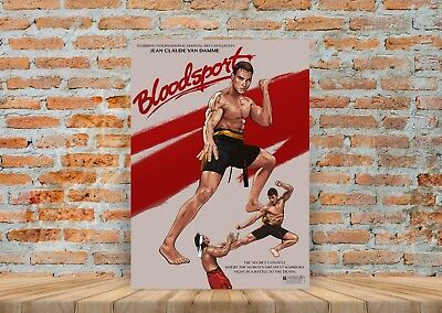 BLOOD SPORT VINTAGE MOVIE POSTER  FILM A4 A3 ART PRINT CINEMA