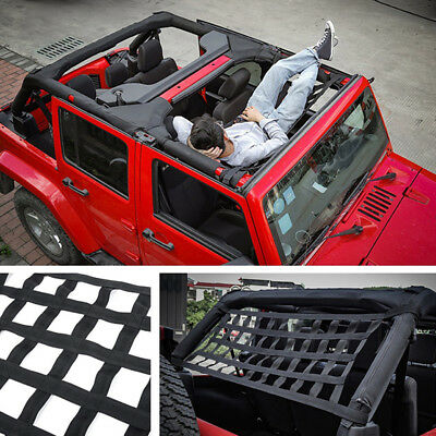Practical Heavy Duty Car Roof Rack Cargo Oxford Net Hammock For Jeep Wrangler JK