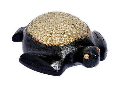 Handcrafted Wooden Hand Painted Tortoise Statue