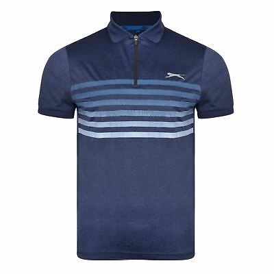 Slazenger Mens Performance Qtr Zip Polo (Lew)