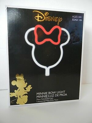 """New, in box Disney MINNIE MOUSE """"Neon Style"""" Bow Lamp, Works Great!"""