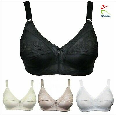 New Womens Ladies Everyday Total Support Non-Wired Soft Comfort Bra by Trifolium