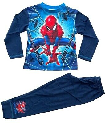 Boys Official Marvel Spider-Man Pyjamas Pajamas Pjs Kids Children's 5 6 8 10