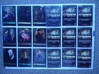 The Walking Dead season 3 part 2 full 9 card  Governor chase   set