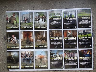 The Walking Dead season 3 part 1 full 9 card  prison chase   set