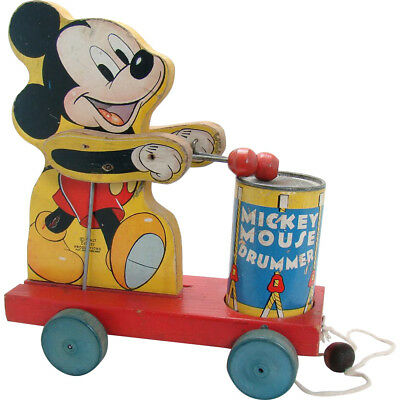 Fischer Price Mickey Mouse Drummer Pull Toy - Excellent condition