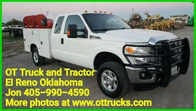 2014 Ford F-350 F350 4wd Super Cab 9ft Service Utility Bed Extended Cab 6.2L Gas