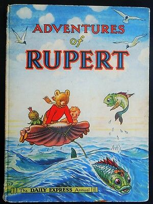 Vintage Original 1950 Rupert Bear Annual, Price Unclipped 4/-, Unscribed
