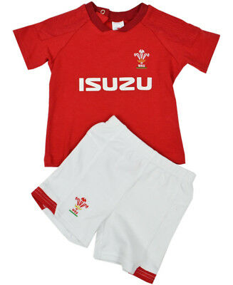 Official Wales WRU Rugby Baby/Toddler T-shirt & Shorts Set | Red | 2018/19