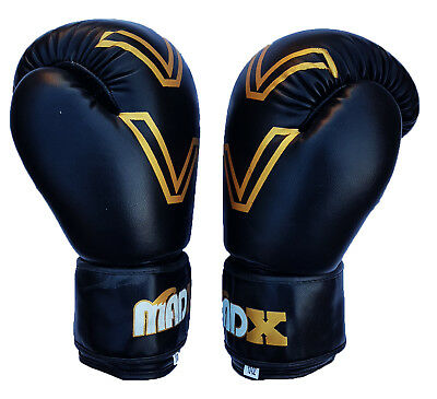 MADX Rexion Leather Boxing MMA Gloves UFC Training Punching Sparring 6oz - 16oz