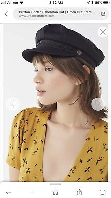 fc7ba39c222a0 Brixton Fiddler Fisherman Cap Hat Women Black S New Urban Outfitters Small