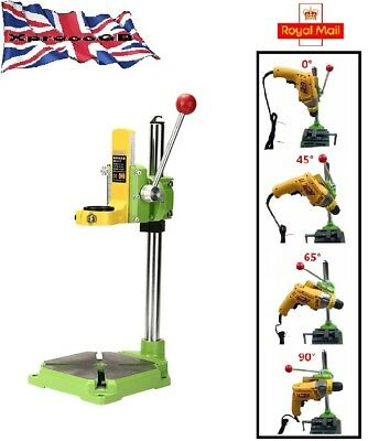 Bench Drill Stand Press Mini Carrier Bracket 90° Rotating Fixed Frame GB