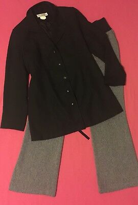 Preowned 2Piece Maternity Career / Office Outfit MOTHERHOOD Jacket Size 14 Pants