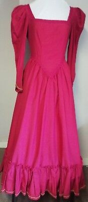 Period Theatrical costume, ladies. Deep red.   Good condition