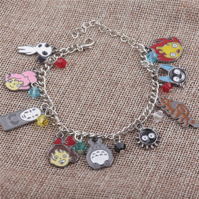 Studio Ghibli My Neighbor Totoro In The Sky Metal Bracelet Spirited Away Castle
