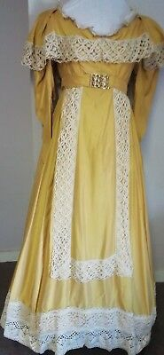 """Old gold Victorian style theatrical costume, ladies. 36"""" bust."""