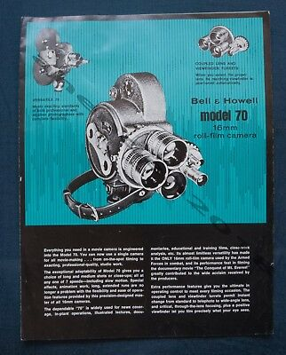 Rare Bell And Howell Model 70 -16Mm Roll Fill Camera Brochure And Price List