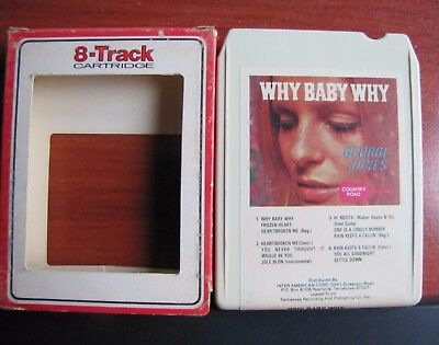 George Jones : Why Baby Why - Country Road - 8 Track tape