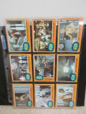 1977 Topps Star Wars Series 5 (Orange Border) - 37 of 66 total; 3 of 11 stickers