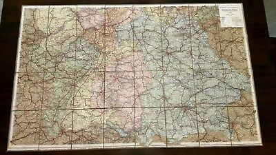 Antique Germany Folding Cloth Map Suddeutschland Ausfuhrung von C Opitz Leipzig