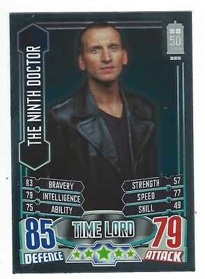 Topps Doctor Who Alien Attax 50th Anniversary Foil Card 17 The Ninth Doctor