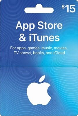 $15 Apple App Store & iTunes gift card
