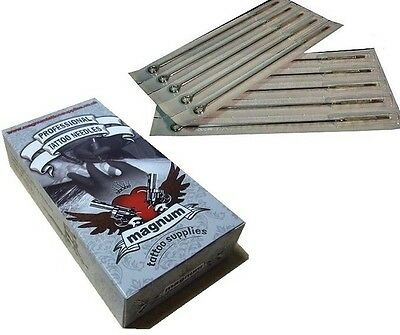 50 x 13RM ROUND MAGNUM TATTOO NEEDLES TOP QUALITY UK - CURVED MAG 13 RM