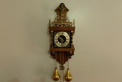 Lovely Dutch Zaanse vintage wall clock.