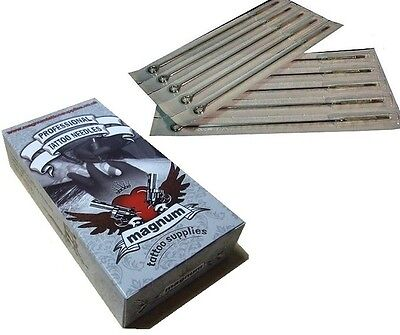 10 x 9 RM ROUND MAGNUM TATTOO NEEDLES TOP QUALITY UK - CURVED MAG 9RM