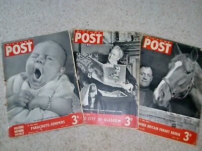 Picture Post magazines - 3 dated 11 Feb 39, 1 April 39, 20 May 1939