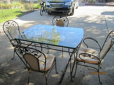 Salterini Patio Set, Vintage. Wrought Iron.