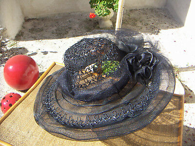 TRES BELLE CAPELINE/CHAPEAU  ANCIEN -collection- vetement ancien-19eme