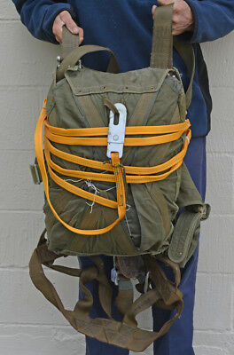 U.S. Military Switlink Parachute with Chute w/Harness 1960's 101st Abn.