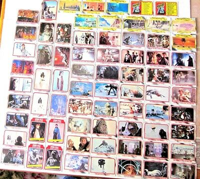 Vintage Star Wars 1980 The Empire Strikes Back Series 1 Trading Card Singles Lot